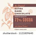 the original extra dark... | Shutterstock .eps vector #1121839640