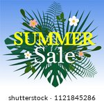 summer sale colorful background.... | Shutterstock .eps vector #1121845286