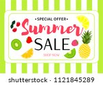 summer sale colorful background.... | Shutterstock .eps vector #1121845289