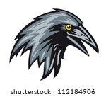 black raven head for mascot.... | Shutterstock .eps vector #112184906