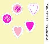 valentin pattern hearts... | Shutterstock .eps vector #1121877059