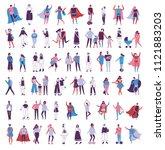 vector illustration in a flat... | Shutterstock .eps vector #1121883203