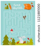 vector game for children with a ... | Shutterstock .eps vector #1121885000