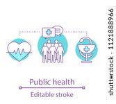 public health concept icon.... | Shutterstock .eps vector #1121888966