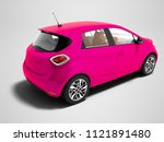 modern pink electric car for... | Shutterstock . vector #1121891480