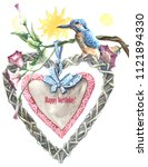 Watercolor Painting   Card Wit...