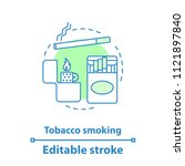 tobacco smoking concept icon.... | Shutterstock .eps vector #1121897840