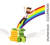 businessman finds gold coin at...   Shutterstock .eps vector #1121898200