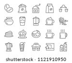 coffee shop icon set. included... | Shutterstock .eps vector #1121910950
