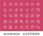 collection of line white icons... | Shutterstock .eps vector #1121918264