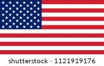 usa flag. flag of the united... | Shutterstock . vector #1121919176