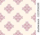 seamless vector decorative... | Shutterstock .eps vector #1121926100