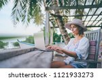technology and travel. working... | Shutterstock . vector #1121933273