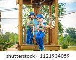 happy children having fun in... | Shutterstock . vector #1121934059