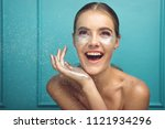 beauty  cosmetics and makeup....   Shutterstock . vector #1121934296