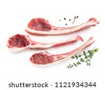 lamb chops isolated on white   Shutterstock . vector #1121934344