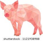 pig polygon art   Shutterstock .eps vector #1121938988