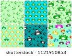 cartoon seamless pattern from... | Shutterstock . vector #1121950853