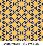 vector geometric floral pattern....   Shutterstock .eps vector #1121951609