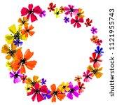 hand drawn artistic background... | Shutterstock .eps vector #1121955743