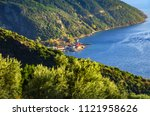 view of the port of dafni from... | Shutterstock . vector #1121958626