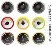 speedometers for downloads | Shutterstock . vector #112196540