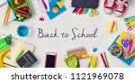 back to school creative concept ... | Shutterstock . vector #1121969078