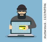 hacker icon. hacker trying to... | Shutterstock .eps vector #1121969546