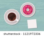 illustration of top view table... | Shutterstock . vector #1121972336
