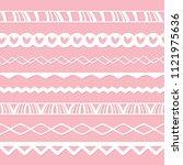 set of seamless paper borders... | Shutterstock .eps vector #1121975636