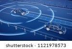 autonomous self driving... | Shutterstock . vector #1121978573