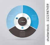 vector circle for infographic... | Shutterstock .eps vector #1121987459