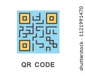 icon qr code. barcode for quick ... | Shutterstock .eps vector #1121991470