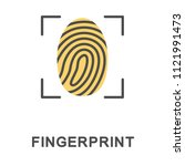 icon fingerprint. a way of... | Shutterstock .eps vector #1121991473