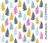 fern frond herbs  tropical... | Shutterstock .eps vector #1121994296