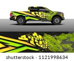 truck and car graphic...   Shutterstock .eps vector #1121998634