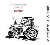 hand drawn vintage transport... | Shutterstock .eps vector #1122000860