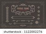 vintage frame. script art for...   Shutterstock .eps vector #1122002276