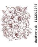 vintage vector floral... | Shutterstock .eps vector #1122013346