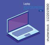 laptop computer isometrics icons
