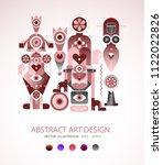 modern abstract art design... | Shutterstock .eps vector #1122022826