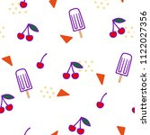 seamless summer pattern with... | Shutterstock .eps vector #1122027356