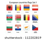 buttons with european countries ... | Shutterstock . vector #112202819
