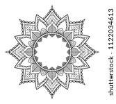 vector mandala pattern  henna... | Shutterstock .eps vector #1122034613