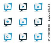 weather icons colored set with... | Shutterstock .eps vector #1122035156