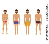 different men's underwear and... | Shutterstock .eps vector #1122038558