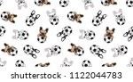 dog seamless pattern french... | Shutterstock .eps vector #1122044783