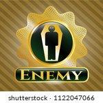 golden emblem with dead man in ...   Shutterstock .eps vector #1122047066