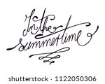in the summertime letters  text.... | Shutterstock .eps vector #1122050306