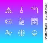 vector illustration of 9 party... | Shutterstock .eps vector #1122056030